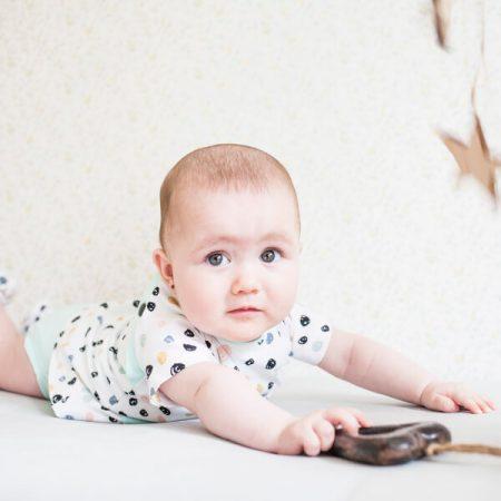 Vestido con body para bebe